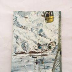 Postales: POSTAL. SALLENT DE GALLEGO. ESTACIÓN INVERNAL. ED. SICILIA. H. 1970?.. Lote 163479370
