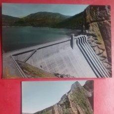 Postales: ESCALES POSTAL COLOREADA PRESA HUESCA ARAGÓN AÑOS '60. Lote 163606506