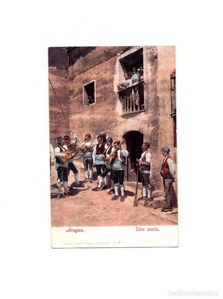 ARAGÓN.- UNA CANTA. (Postales - España - Aragón Antigua (hasta 1939))