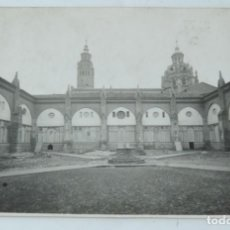Postales: FOTOGRAFIA DEL CLAUSTRO DE LA CATEDRAL DE TARAZONA, FOTO L. MORA INSA, ZARAGOZA, MIDE 17 X 11,5 CMS.. Lote 164656074