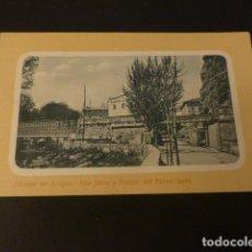 Postales: ALHAMA DE ARAGON ZARAGOZA RIO JALON Y PUENTE DEL FERROCARRIL. Lote 165009534