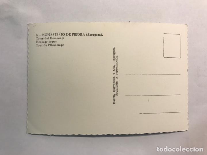 Postales: ZARAGOZA. Monasterio de Piedra. Postal No.6, Torre del Homenaje. Edita: Garcia Garrabella (h.1960?) - Foto 2 - 165400452