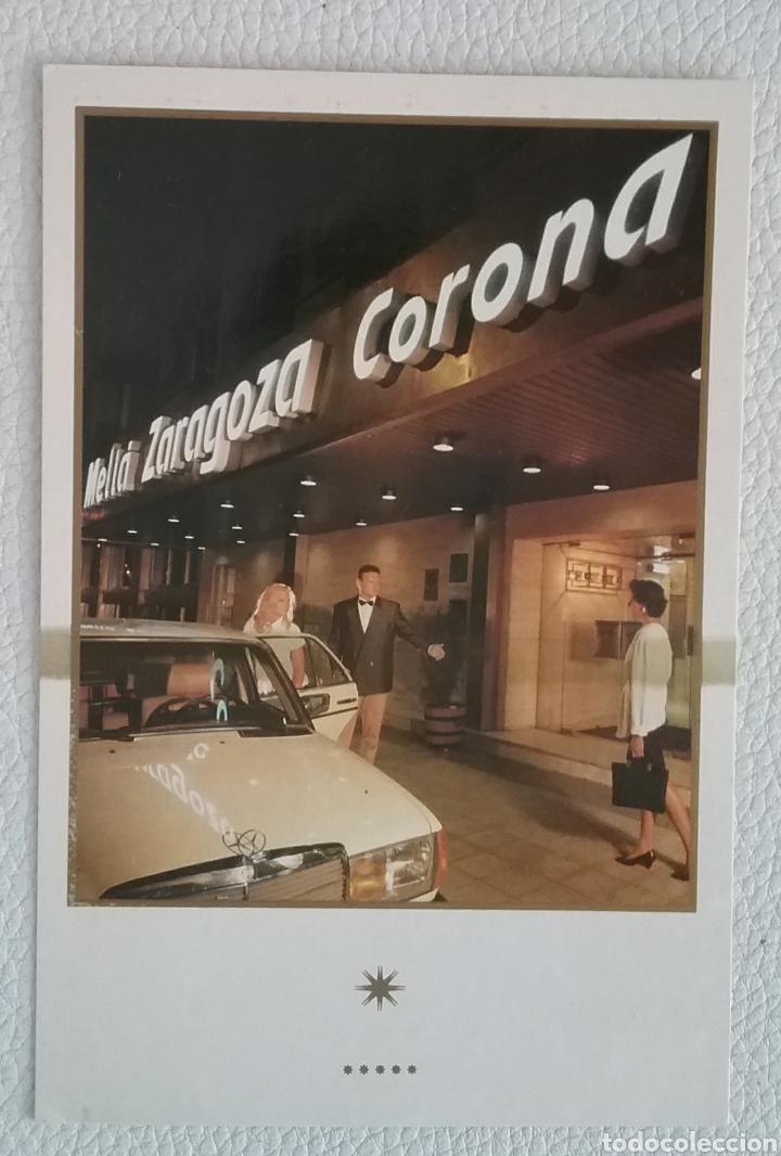 POSTAL DEL HOTEL MELIÁ ZARAGOZA, 1989. (Postales - España - Aragón Moderna (desde 1.940))