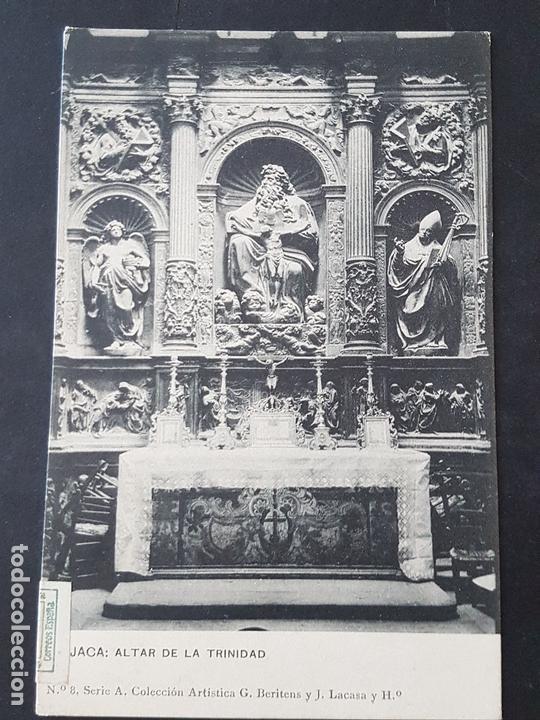JACA HUESCA ALTAR DE LA TRINIDAD (Postales - España - Aragón Antigua (hasta 1939))
