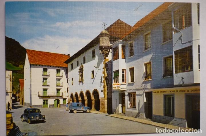 POSTAL BIELSA -PLAZA MAYOR AYUNTAMIENTO (Postales - España - Aragón Moderna (desde 1.940))