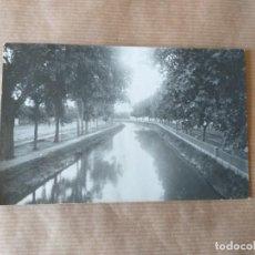 Postales: POSTAL FOTOGRÁFICA DE ZARAGOZA. CANAL IMPERIAL DE ARAGÓN. Lote 165887170