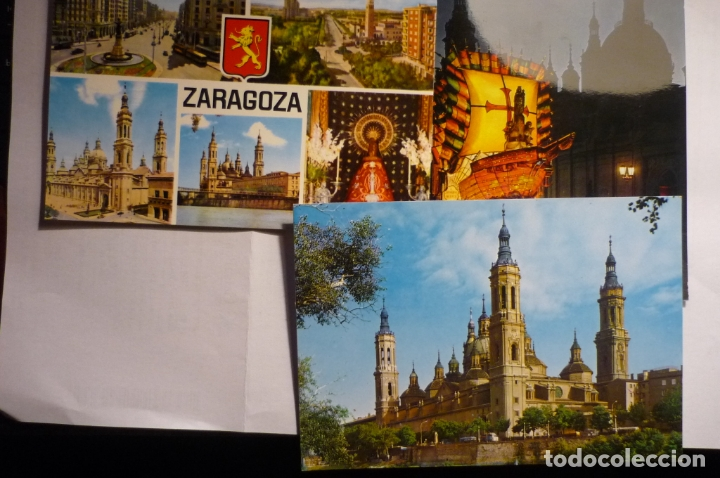 LOTE POSTALES ZARAGOZA CM (Postales - España - Aragón Moderna (desde 1.940))
