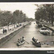 Postales: ZARAGOZA-CANAL IMPERIAL-FOTOGRAFICA-POSTAL ANTIGUA-(59.819). Lote 166557098