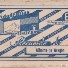 Postales: 10 VISTAS (FOTOGRAFIAS ARTÍSTICAS) DE ALHAMA DE ARAGÓN EN ACORDEON (14X9,4) - EDICIONES SICILIA. Lote 166703230
