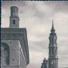Postales: POSTAL ZARAGOZA - CATEDRAL DE LA SEO - FACHADA PRINCIPAL - GARRABELLA 64 - CIRCULADA. Lote 166944788