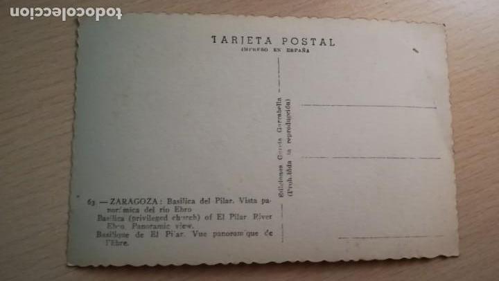 Postales: POSTAL ZARAGOZA BASILICA DEL PILAR - Foto 2 - 167443432
