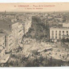 Postales: POSTAL ANTIGUA DE ZARAGOZA .Nº 10 PLAZA DE LA CONSTITUCION- L ROISIN-SIN CIRCULAR. Lote 167742548