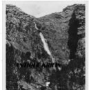 Postales: ORDESA Nº 3530 CASCADA DE COTATUERO .- FOTO ZERKOWITZ .- DISTRI. SILVERIO PASCUAL 1951. Lote 168468120