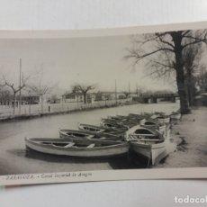 Postales: ZARAGOZA-CANAL IMPERIAL DE ARAGON-28-FOTOGRAFICA ROISIN-POSTAL ANTIGUA-(60.810). Lote 168845996