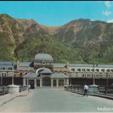 Postales: CANFRANC (HUESCA) ESTACION INTERNACIONAL, ENTRADA - EDICIONES SICILIA Nº 2 - EDITADA 1965 - S/C. Lote 169059008