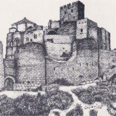 Postales: HUESCA, CASTILLO DE LOARRE, ILUSTRADOR: CEFERINO - GRÁFICAS VASCONIA - S/C. Lote 169096096