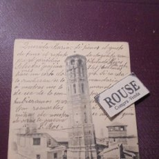 Postales: ZARAGOZA - NUM. 27 TORRE-NUEVA ( DERRIVADA) FOTOTIP. L. ESCOLA - ZARAGOZA CIRCULADA 1906 - REVERSO . Lote 169283048