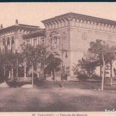 Postales: POSTAL ZARAGOZA - PALACIO DE MUSEOS. Lote 169643312