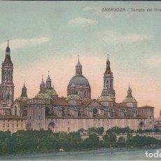 Postales: POSTAL ZARAGOZA - TEMPLO DEL PILAR DESDE EL EBRO - COLOR. Lote 169662388
