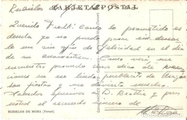 Postales: RUBIELOS DE MORA. TERUEL POSTAL FOTOGRÁFICA - Foto 3 - 169776816