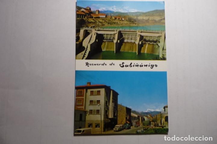 POSTAL SABIÑANIGO -PRESA Y AV. EJERCITO (Postales - España - Aragón Moderna (desde 1.940))