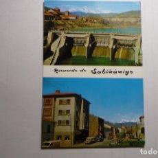 Postales: POSTAL SABIÑANIGO -PRESA Y AV. EJERCITO. Lote 169839600