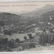 Cartes Postales: CASTEJON DE SOS VISTA DE ARASAN Y PICO DE GALLINERO. EDICIÓN E. BIELSA. CLICHE M. ARRIBAS. HUESCA . Lote 170503880