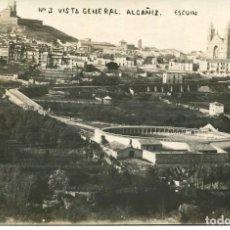 Postales: ALCAÑIZ-VISTA GENERAL Y PLAZA DE TOROS-FOTOGRÁFICA ESCUIN. Lote 171313695