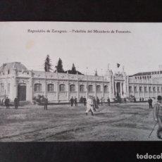 Postales: ZARAGOZA EXPOSICION DE ZARAGOZA PABELLON DEL MINISTERIO DE FOMENTO. Lote 171432949