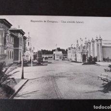 Postales: ZARAGOZA EXPOSICION DE ZARAGOZA UNA AVENIDA LATERAL. Lote 171433063
