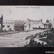 Postales: ZARAGOZA EXPOSICION DE ZARAGOZA AVENIDA CENTRAL. Lote 171433592