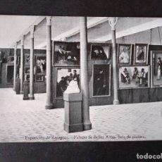 Postales: ZARAGOZA EXPOSICION DE ZARAGOZA PALACIO DE BELLAS ARTES SALA DE PINTURA. Lote 171433745