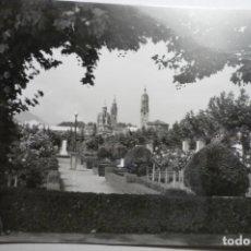 Postales: POSTAL TARAZONA -PARQUE ESTACION Y TORRE CATEDRAL -CIRCULADA CM. Lote 171642304
