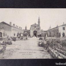 Postales: CARTUJA DEL AULA DEI ZARAGOZA PATIO DE HONOR. Lote 171750707