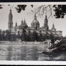 Postales: ZARAGOZA, PAISAJE DEL EBRO - EDITA GM - SIN CIRCULAR. Lote 172164274