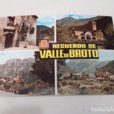 Postales: HUESCA - POSTAL VALLE DE BROTO - OTO - DIVERSOS ASPECTOS. Lote 173389089