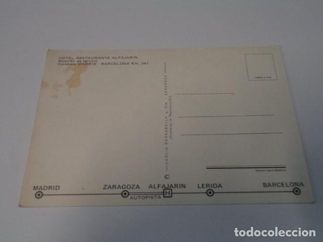 Postales: ZARAGOZA - POSTAL ALFAJARÍN - HOTEL RESTAURANTE ALFAJARÍN - Foto 2 - 173564332