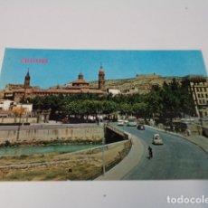 Postales: ZARAGOZA - POSTAL CALATAYUD - VISTA PARCIAL - AL FONDO EL CASTILLO. Lote 173565005