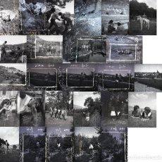 Postales: LOTE 65: 115 NEGATIVOS -ALGUNOS RAYADOS- 4,5X6 CM TERUEL ORIHUELA TREMEDAL MOTOS ALUSTANTE 1959-1961. Lote 169737800