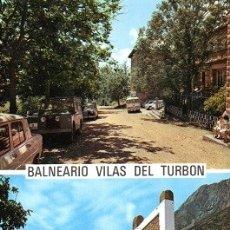 Postales: BALNEARIO VILAS DEL TURBÓN - 3 MIRADOR - FUENTE MEDICINAL . Lote 175054580