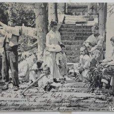 Postales: ANTIGUA POSTAL ZARAGOZA - FAMILIA DE LA HUERTA , AÑO 1904. Lote 175345870