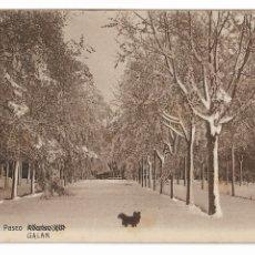 Postales: HUESCA - JACA - PASEO GALÁN. Lote 175589604