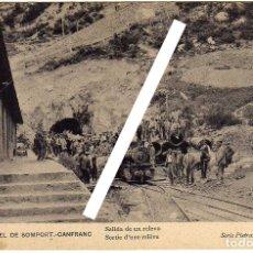 Postales: POSTAL TUNEL DE SOMPORT - CANFRANC (HUESCA) - SALIDA DE UN RELEVO - SERIE PIETRAMELLARA Y BERTON. Lote 175591845