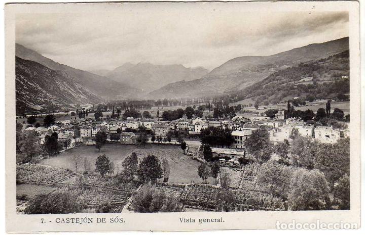POSTAL CASTEJON DE SOS (HUESCA) - VISTA GENERAL (Postales - España - Aragón Antigua (hasta 1939))