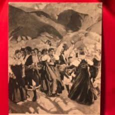 Postales: POSTAL ARAGON GENTE DE ANSÓ BAILANDO LA JOTA JOAQUIN SOROLLA HISPANIC SOCIETY AMERICA HSA 1923 PERFE. Lote 175721040