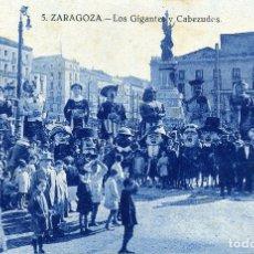 Postales: ZARAGOZA - LOS GIGANTES Y CABEZUDOS. Lote 176803692