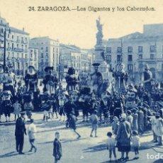 Postales: ZARAGOZA - LOS GIGANTES Y CABEZUDOS. Lote 176803808