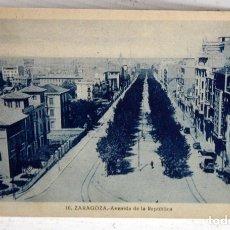 Postales: ANTIGUA POSTAL DE ZARAGOZA. AVENIDA DE LA REPUBLICA. ESCRITA. Lote 176890325