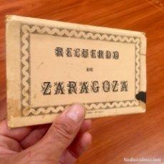 Postales: ALBUM 10 ANTIGUAS POSTALES RECUERDO ZARAGOZA EDICIONES ARRIBAS. Lote 177211038