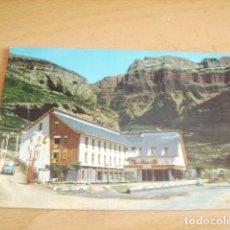 Postales: TORLA ( HUESCA ) HOTEL ORDESA ENTRADA AL CAMPING. Lote 177268367